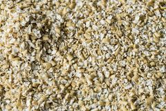 Flat lay heap oat bran stock photography