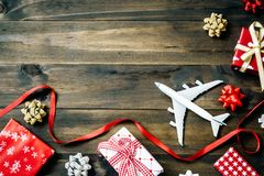 Free Flat Lay Of Merry Christmas And Happy New Year And Any Holidy Tr Stock Photo - 106010860