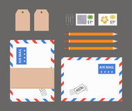 Flat lay office stuff Royalty Free Stock Photography