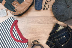 Free Flat Lay Photography Of Men Casual Outfits Stock Image - 77779681
