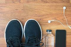 Flat lay of sports activities Stock Photography