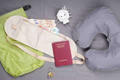 Flat lay travel concept Royalty Free Stock Image