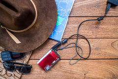 Flat lay travel: Image 002 stock photography