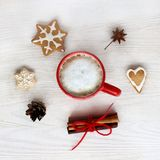 Christmas coffee break Royalty Free Stock Photo