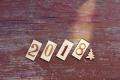 Concept of the new year 2018 Stock Photography