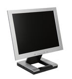 Flat LCD Monitor Stock Photo