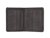 Flat leather wallet isolated Royalty Free Stock Photo