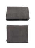Flat leather wallet isolated Stock Photo