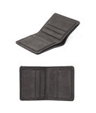 Flat leather wallet isolated Royalty Free Stock Images