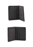 Flat leather wallet isolated Stock Photos
