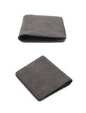Flat leather wallet isolated Stock Image