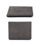 Flat leather wallet isolated Stock Photography