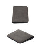 Flat leather wallet isolated Royalty Free Stock Photos