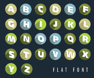 Flat letters of the alphabet. Flat colorful letters of the alphabet with shadow effect, retro colors, vector illustration stock illustration