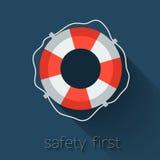 Flat Lifebuoy Stock Image