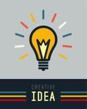 Flat light lamp sign icon. Idea symbol. Imagine Stock Image