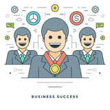 Flat line Business Concept Vector illustration. Modern thin linear stroke vector icons. Stock Image