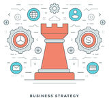 Flat line Business Strategic Management. Vector illustration. Stock Image