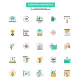 Flat Line Color Icons- Web Design Stock Images
