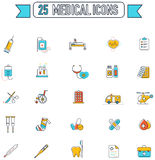 Flat line color medical, physicians, and hospital tool equipment Stock Image