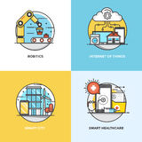 Flat line Concepts design Royalty Free Stock Images