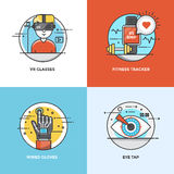 Flat line Concepts design Stock Photography