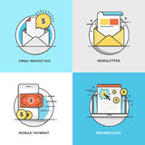 Flat line Concepts Designed Icons Stock Photo