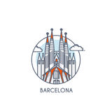 Flat line deisgned icon - Barcelona Stock Images