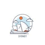 Flat line deisgned icon - Sydney Stock Image