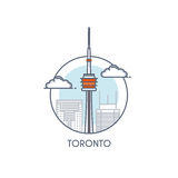 Flat line deisgned icon - Toronto Royalty Free Stock Photography