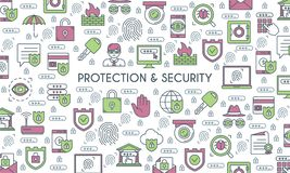 Banner on theme security Stock Photos