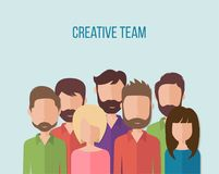 Concept for business people teamwork, human resources vector illustration