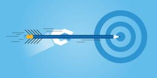 Flat line design website banner of achieving education goals Stock Photos