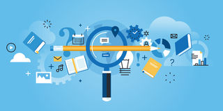 Free Flat Line Design Website Banner Of Find The Right Education Stock Images - 68581324