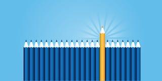Flat line design website banner of professional skills Stock Images