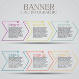 Flat line elements for infographic steps royalty free illustration
