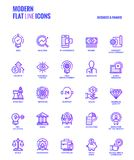 Flat line gradient icons design-Business and Finance. Set of Modern Gradient flat line Business and Finance icons suitable for mobile concepts, web application Royalty Free Stock Photo
