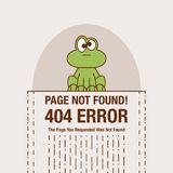 Flat line icon concept of 404 Error Page or File not found icon. Cute cartoon face Royalty Free Stock Image