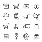 Flat Line Icons For Business Icons and Ecommerce Icons Vector Illustration Royalty Free Stock Images