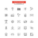Flat Line  Icons- Business and Startup. Set of Modern Flat Line icon Concept of Business, Start up , Management, Online Marketing, Research and Analysis use in Stock Images