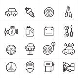 Flat Line Icons For Car Service Icons Vector Illustration Royalty Free Stock Photography