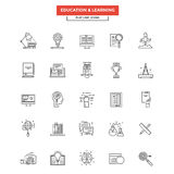 Flat Line  Icons - Education and Learning Royalty Free Stock Photo