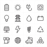 Flat Line Icons For Environment Icons and Ecology Icons Vector Illustration Stock Photography