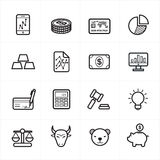 Flat Line Icons For Finance Icons and Business Icons Vector Illustration Royalty Free Stock Image