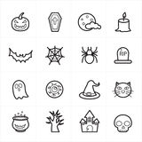 Flat Line Icons For Halloween Icons Vector Illustration Royalty Free Stock Photos