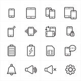 Flat Line Icons For Mobile Icons and Notification Icons Vector Illustration Royalty Free Stock Images