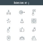 Flat line icons set of business meeting Royalty Free Stock Photography