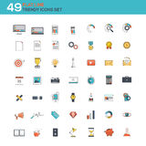 Flat line icons set Stock Photo