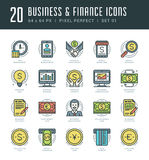 Flat line icons set. Trendy Modern thin linear stroke vector Business and Finance concept. For website graphics, Mobile Apps, Infographics design, Brochures Stock Image