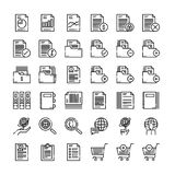 36  Business and Accounting icon set. Flat line icons style. vector Stock Photos